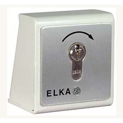 Elka Cylinder lock at the barrier stand